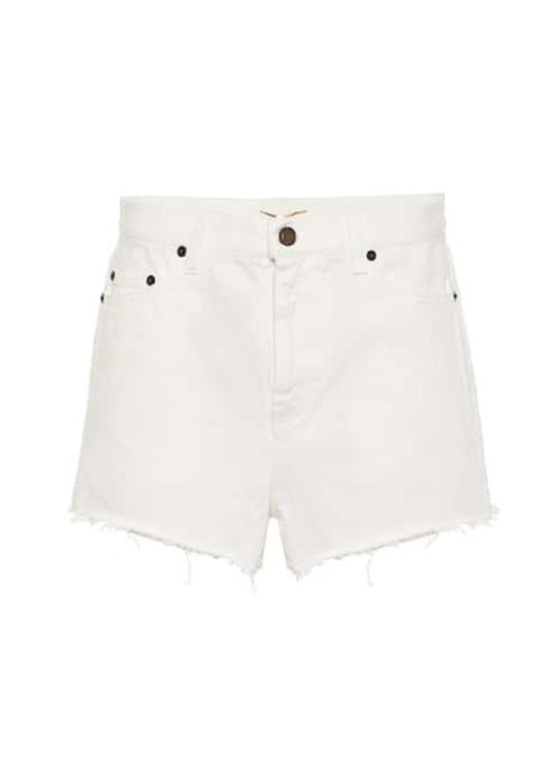 Saint Laurent High-rise enim shorts