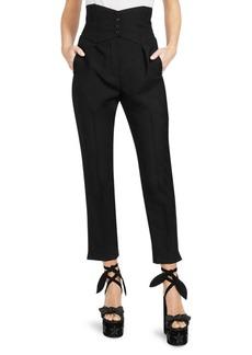 Saint Laurent High-Rise Single Pleat Tuxedo Pants