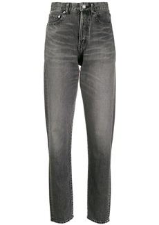 Saint Laurent high-rise straight leg jeans
