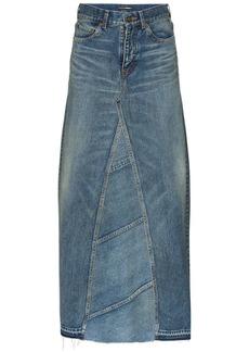Saint Laurent high-waisted maxi denim skirt