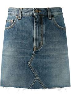 Saint Laurent high-waisted denim skirt