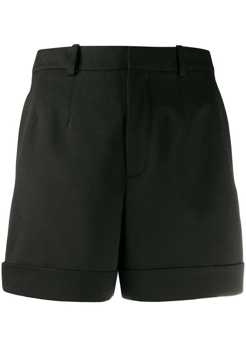 Saint Laurent high-waisted rolled hem shorts