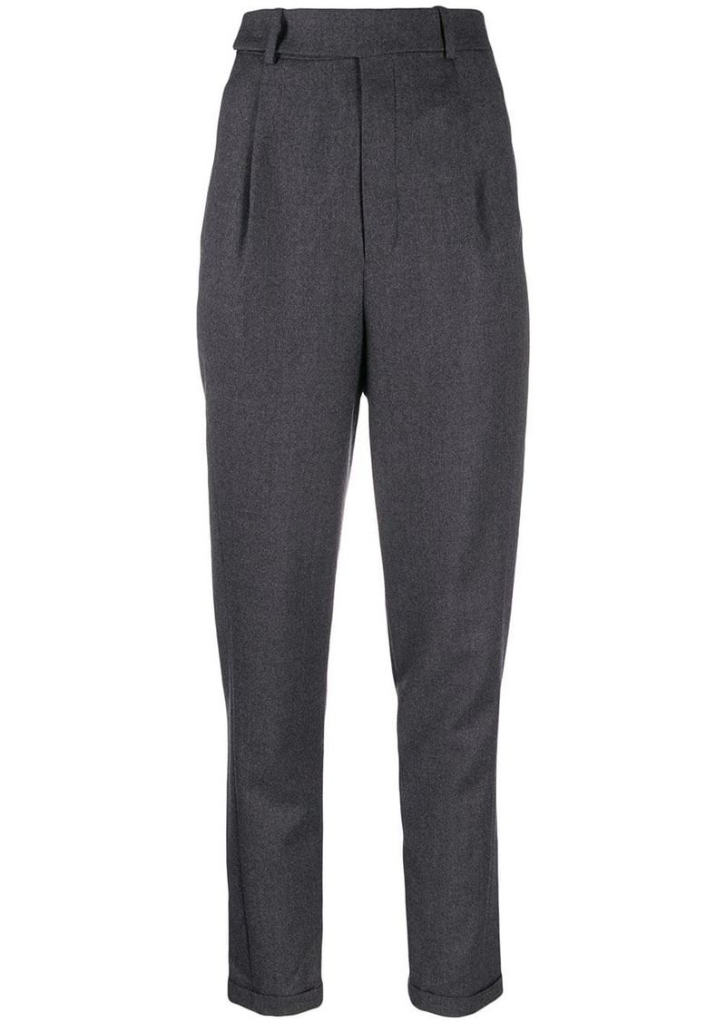 Saint Laurent high-waisted tapered trousers