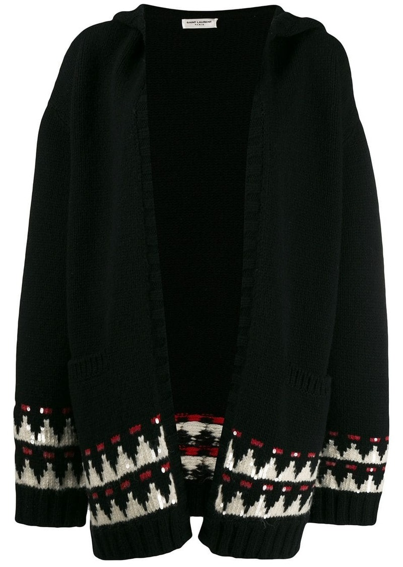 Saint Laurent hooded knitted cardigan