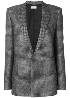 Saint Laurent houndstooth pattern blazer
