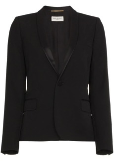 Saint Laurent Iconic Le Smoking Cropped Blazer
