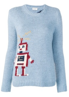 Saint Laurent intarsia robot sweater