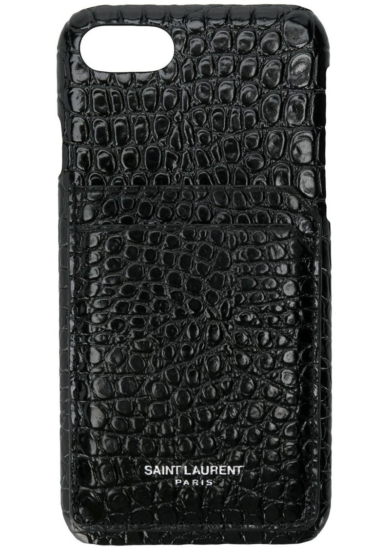 Saint Laurent iPhone 8 crocodile embossed case
