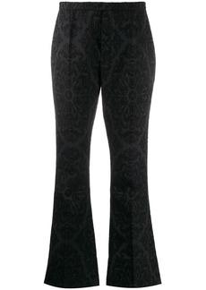 Saint Laurent jacquard flared trousers
