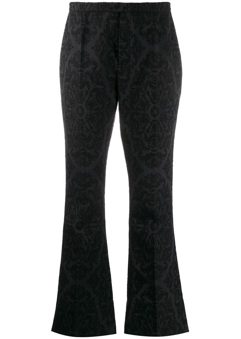 Saint Laurent jacquard flared trousers