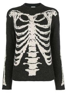 Saint Laurent jacquard knit Skeleton sweater