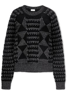 Saint Laurent Jacquard-knit Sweater