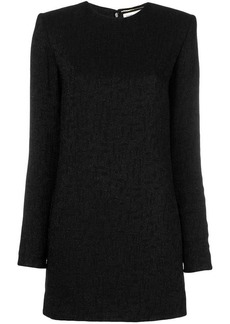 Saint Laurent jacquard pattern mini dress