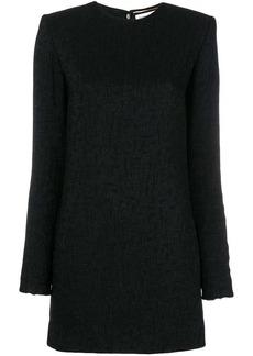 Saint Laurent jacquard pattern mini dress