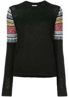 Saint Laurent jacquard sleeve sweater