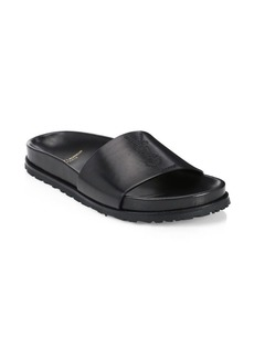Saint Laurent Jimmy Leather Slides
