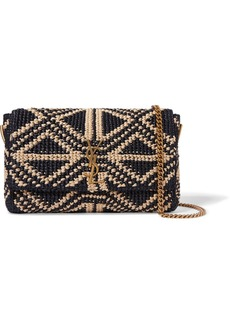 Saint Laurent Kate Medium Raffia Shoulder Bag