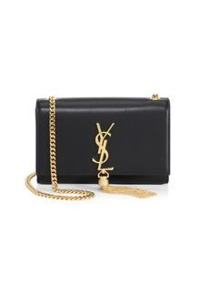 Saint Laurent Small Kate Monogram Tassel Leather Shoulder Bag