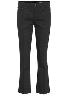 Saint Laurent Kick-flare cropped jeans