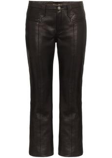 Saint Laurent kick flare leather trousers