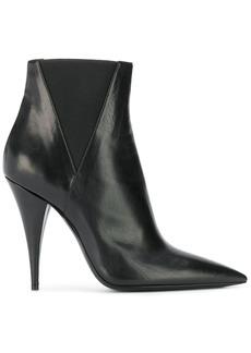 Saint Laurent Kiki pointed toe ankle boots