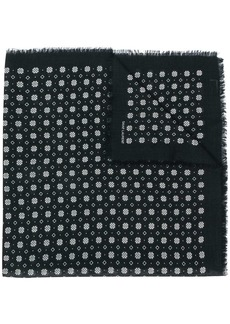 Saint Laurent knitted logo scarf