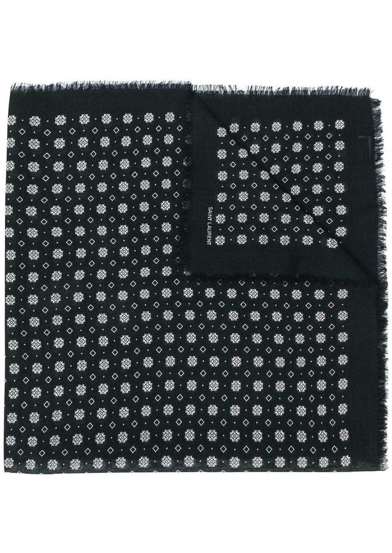 Saint Laurent knitted logo scarf