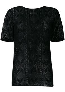 Saint Laurent lace short sleeve top