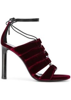 Saint Laurent lace-up panelled sandals