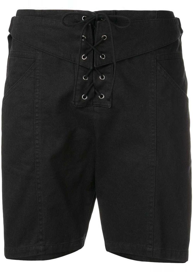Saint Laurent lace-up shorts