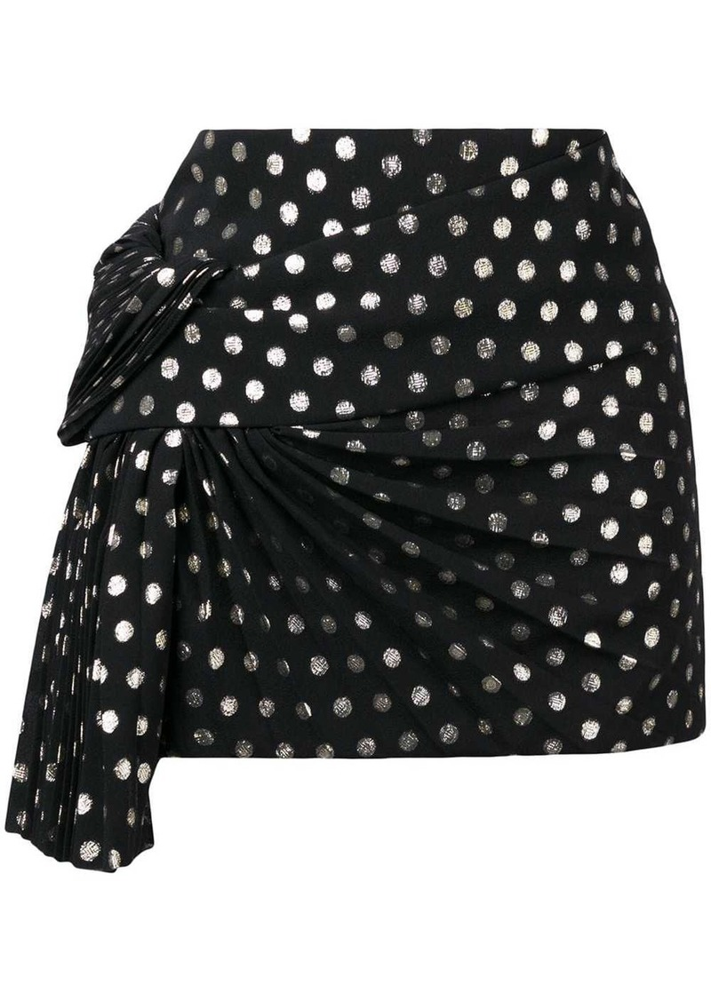 Saint Laurent lamé polka dot skirt