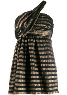 Saint Laurent lamé striped mini dress
