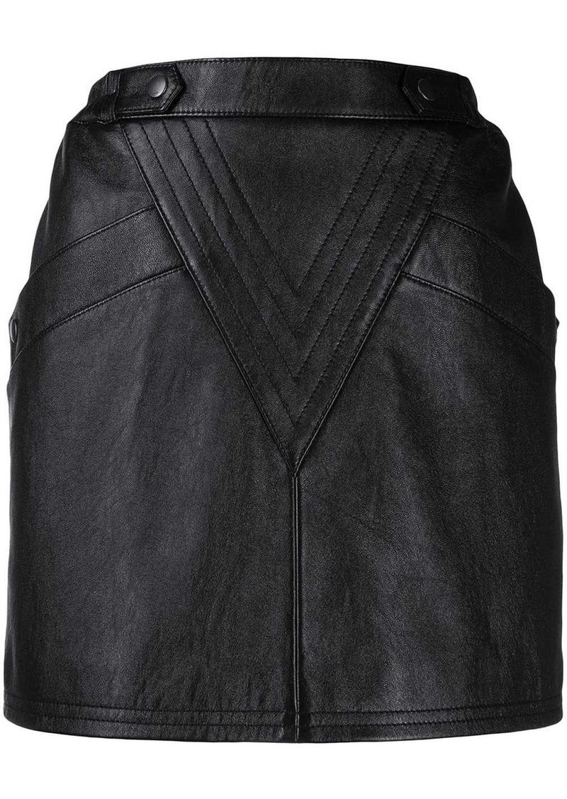 Saint Laurent lambskin mini skirt