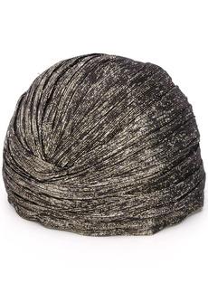 Saint Laurent lame knotted turban