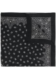 Saint Laurent large bandana print scarf