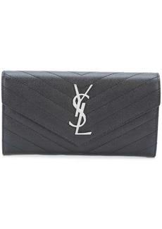 large Monogram Saint Laurent flap wallet