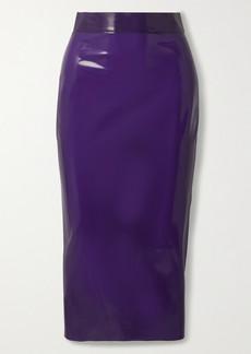 Saint Laurent Latex Midi Skirt Latex Care Cleaning Kit 3 X 30ml Bottles (vividress, Vivishine, Viviclean)