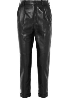 Saint Laurent Leather Straight-leg Pants