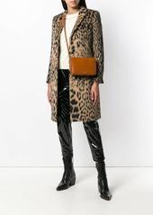 Saint Laurent leopard jacquard single-breasted coat