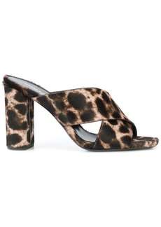 Saint Laurent leopard LouLou 70 sandals