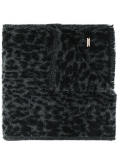 Saint Laurent leopard pattern scarf