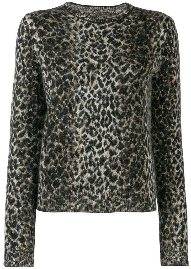 Saint Laurent leopard pattern sweater