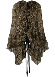 Saint Laurent leopard print blouse