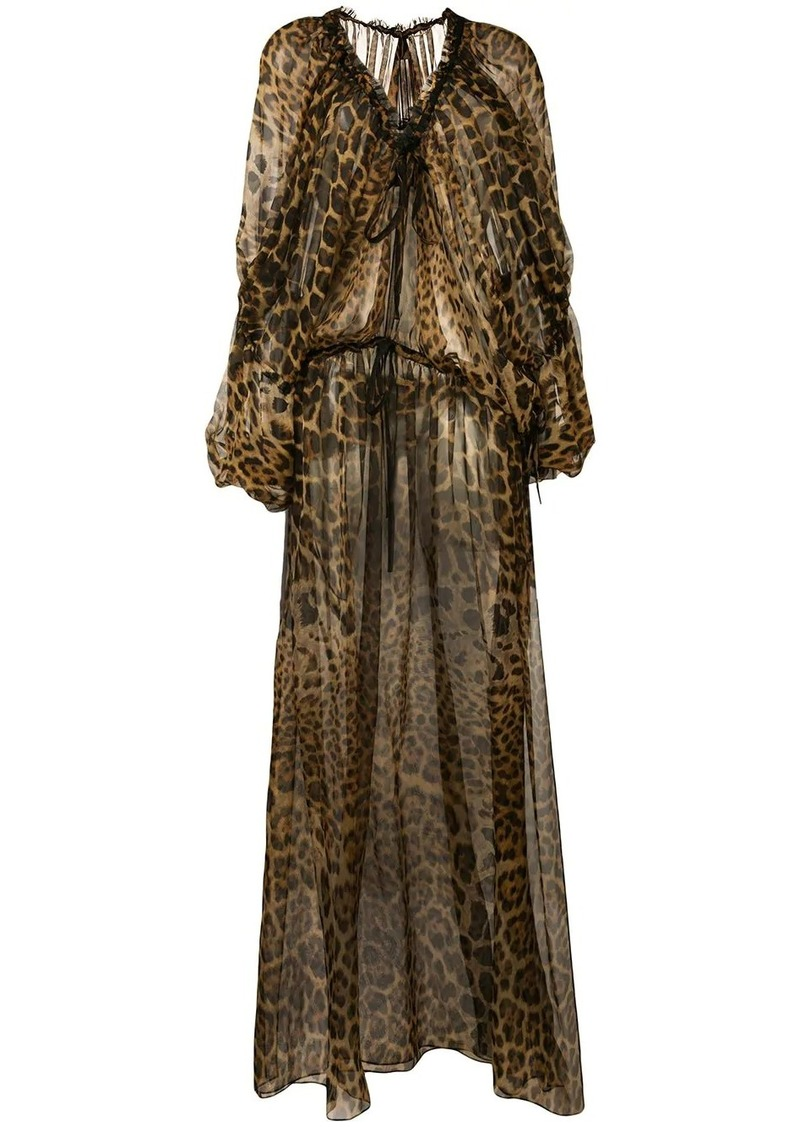 Saint Laurent leopard print maxi dress