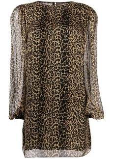Saint Laurent leopard print shift dress