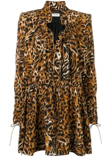 Saint Laurent leopard print silk dress
