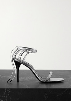 Saint Laurent Lexi Metallic Leather Sandals
