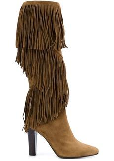 Saint Laurent 'Lily' fringe boots