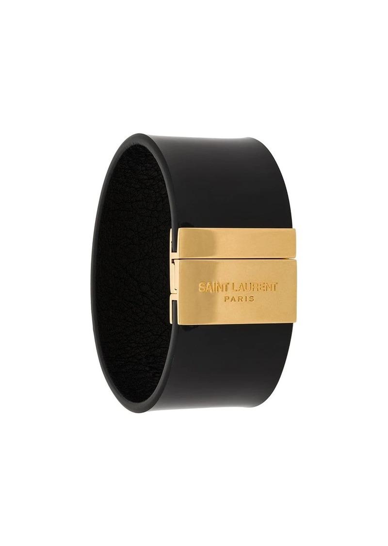Saint Laurent logo cuff bracelet