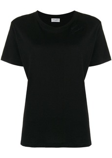 Saint Laurent logo embroidered jersey T-shirt